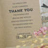 Close Up of Inside of 'All You Need' Kraft Wedding Thank You Cards