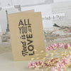 'All You Need' Kraft Wedding Thank You Cards