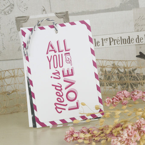 'All You Need' Wedding Thank You Card Tags