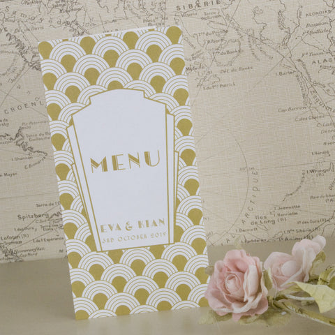 'Art Deco' Wedding Breakfast Menu