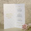 'Art Deco' Wedding Breakfast Menu-Inside