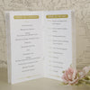'Art Deco' Wedding Order of Service-Middle Pages