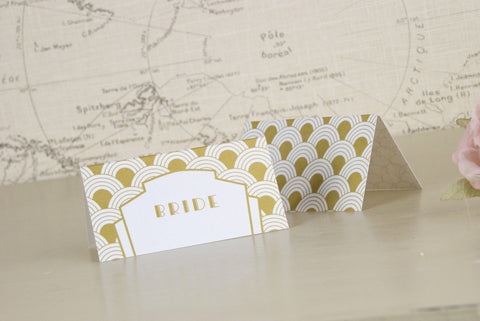 'Art Deco' Wedding Place Name Cards