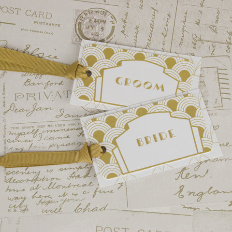 'Art Deco' Wedding Place Name Tags
