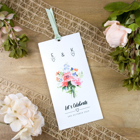 Bouquet Wallet Wedding Invitation