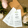 'Floral Press' Wallet Wedding Invitation on Earthy Tan Textured Board with Ivory Board Inserts
