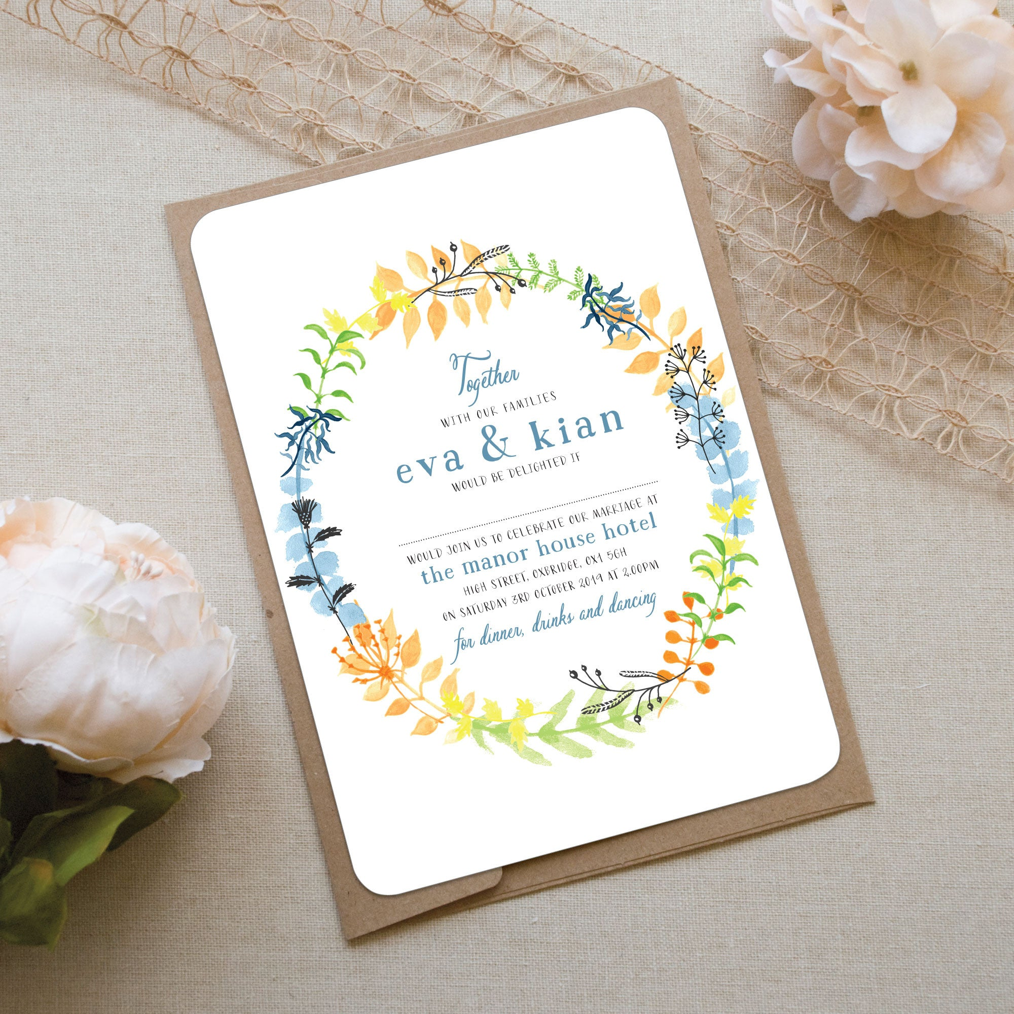 Forever and a Day Wedding Invitation – Love Wedding Print