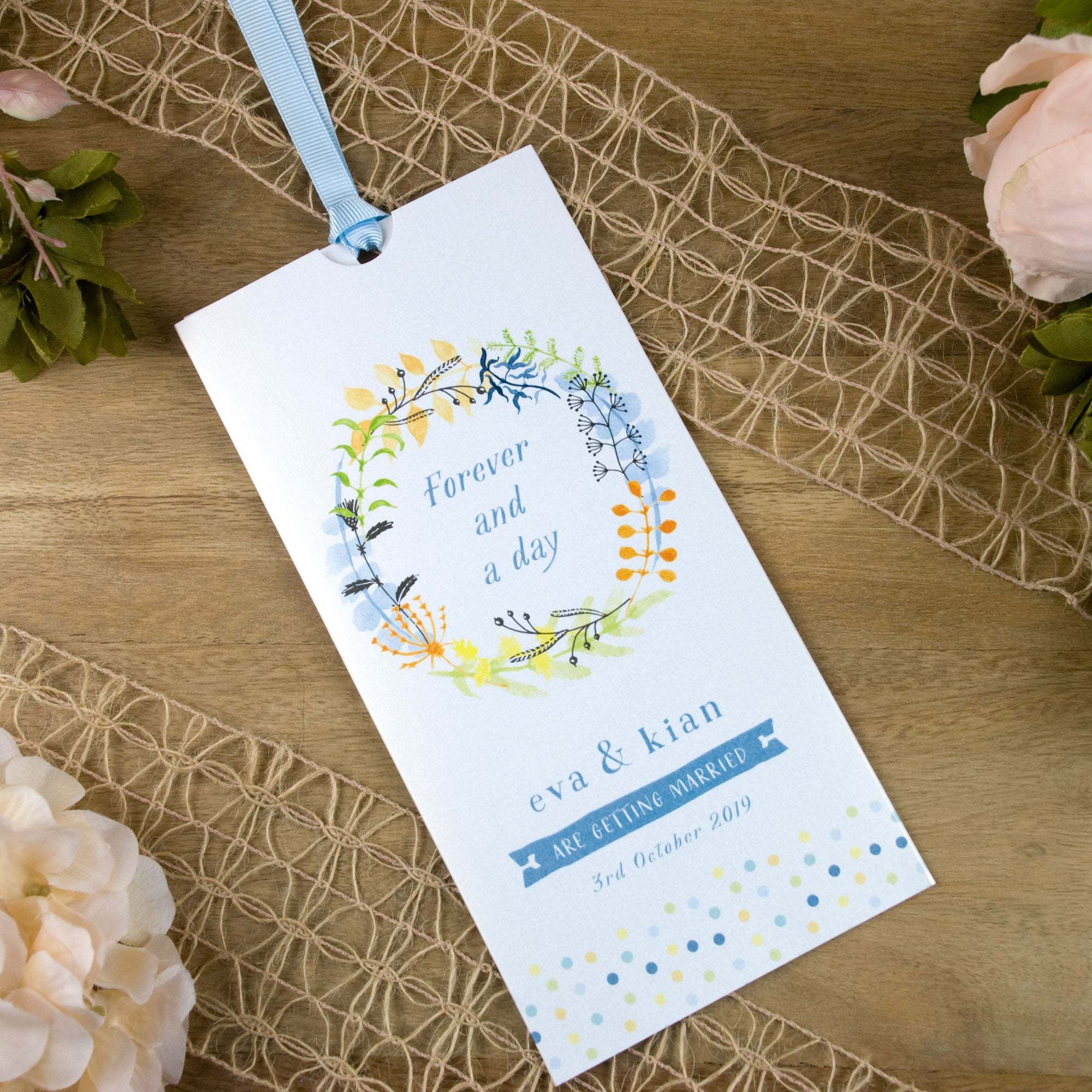 Forever And A Day Wallet Wedding Invitation – Love Wedding Print