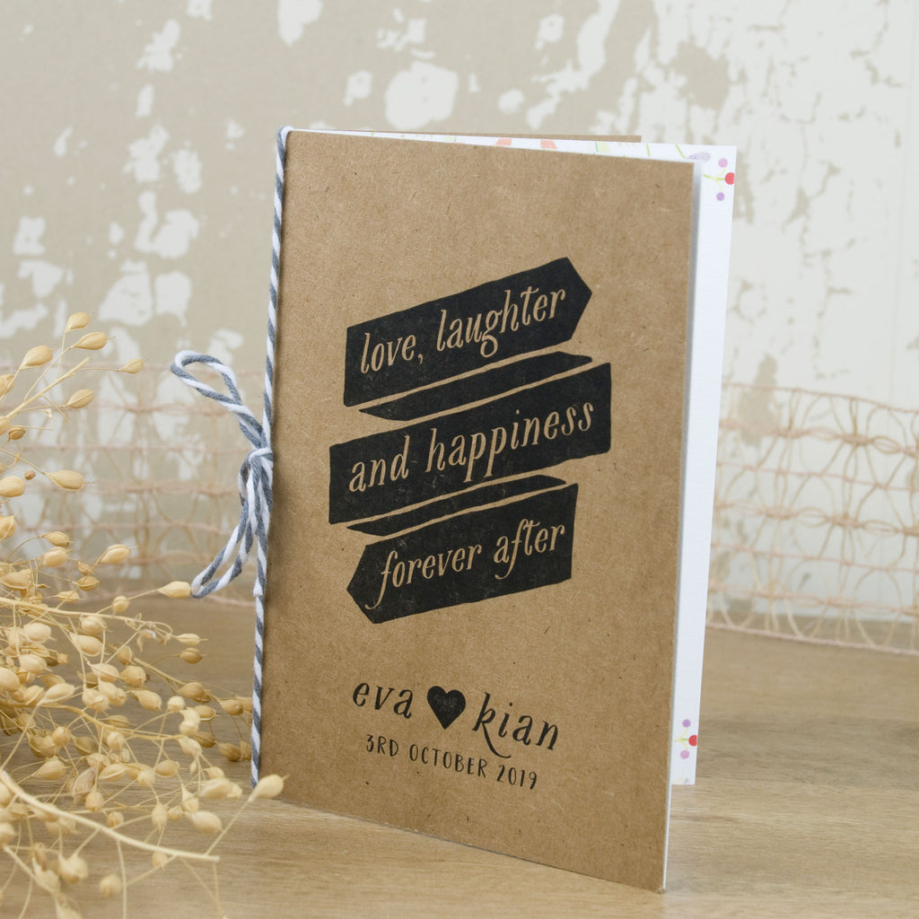 Wedding Invitation Booklet Style: Forever Vintage Booklet Wedding Invitation
