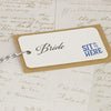 'Guess Who' Wedding Place Name Tags-Bride Close Up