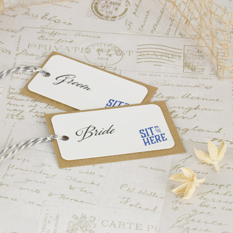 'Guess Who' Wedding Place Name Tags