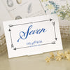 'Guess Who' Ivory Wedding Table Name Cards