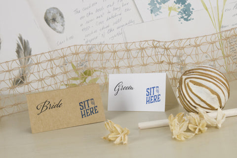 'Guess Who' Wedding Place Name Cards
