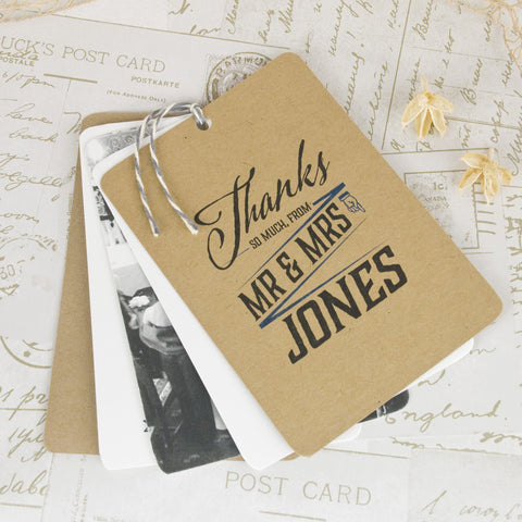 'Guess Who' Wedding Thank You Card Tags