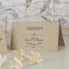 'Happily Yours' Kraft Wedding Place Name Cards-Groom