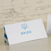 'Happy Ever After' Wedding Place Name Cards, Close Up of Bride