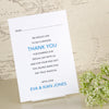 'Happy Ever After' Wedding Thank You Postcards-Reverse