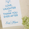 'Happy Ever After' Wedding Thank You Cards-Close Up