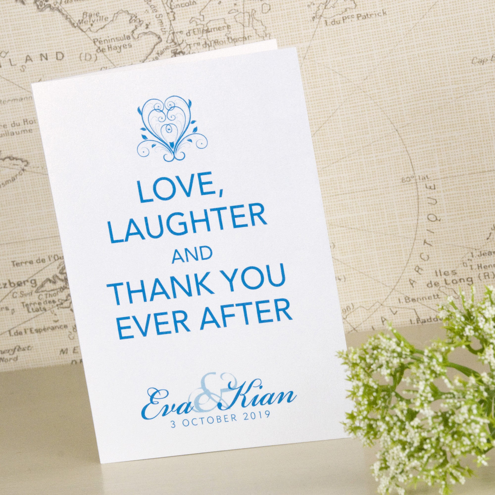 Happy Ever After Thank You Cards Love Wedding Print – Thank You Cards After Wedding