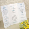'Happy Ever After' Tri-Fold Wedding Invitation with Wedding Information and RSVP