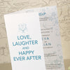 'Happy Ever After' Tri-Fold Wedding Invitation