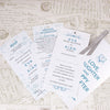 'Happy Ever After' Wallet Wedding Invitation Insert with RSVP and Wedding Information
