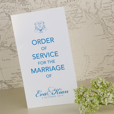 'Happy Ever After' Wedding Order of Service