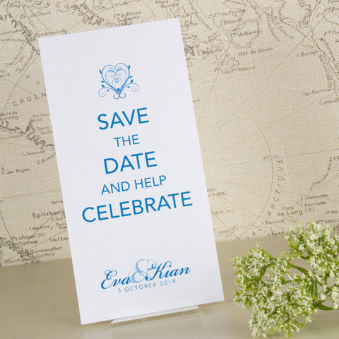 'Happy Ever After' Wedding Save The Date Postcard