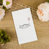 'Happy Graphic' Sleeve Wedding Invitation Insert on Ivory Board