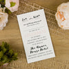 'Happy Graphic' Sleeve Wedding Invitation Wording on Ivory Board