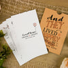 'Happy Graphic' Sleeve Wedding Invitation in Earthy Tan Textured Board, with Inserts