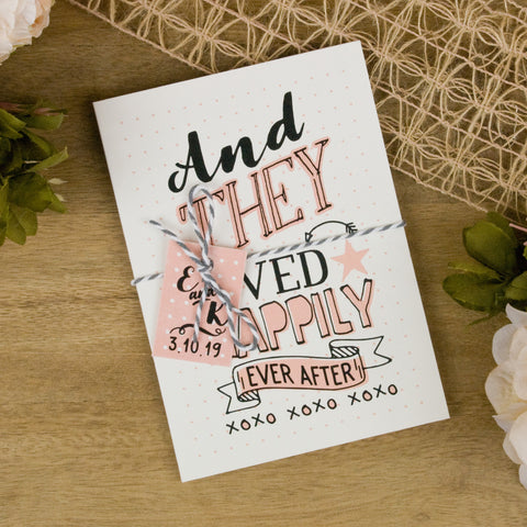 'Happy Graphic' Folded Wedding Invitation