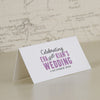 'Laugh Drink Smile' Wedding Place Name Cards-Reverse Side