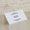 'Laugh Drink Smile' Wedding Place Name Cards 'Bride'