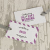 'Laugh Drink Smile' Wedding Place Name Tags
