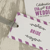 'Laugh Drink Smile' Wedding Place Name Tags-Close Up