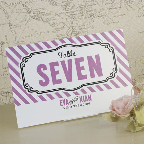 'Laugh Drink Smile' Wedding Table Name Cards