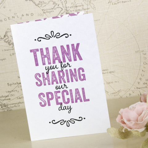 'Laugh Drink Smile' Wedding Thank You Cards
