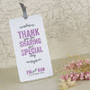'Laugh Drink Smile' Wedding Thank You Card Tags