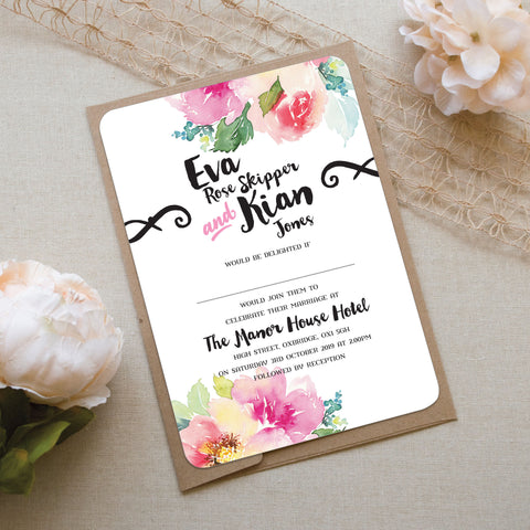 Love Art Wedding Invitation