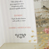 'Love Is All You Need' Wedding Menu-Close Up Inside