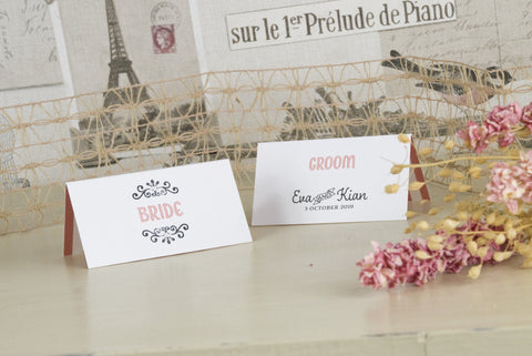 'Love Is All You Need' Wedding Place Name Cards