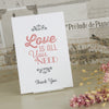 'Love Is All You Need' Wedding Thank You Postcard