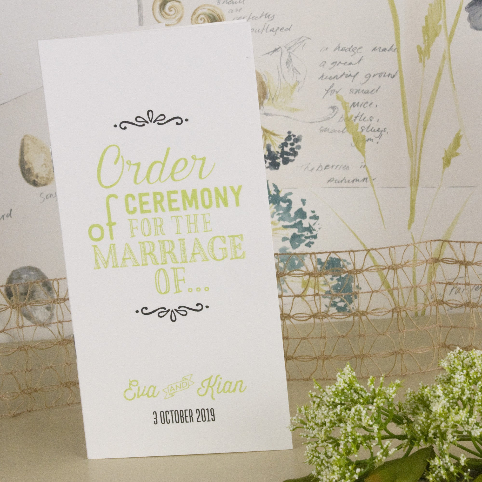 Love Laughter Order of Service – Love Wedding Print
