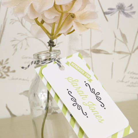 'Love Laughter' Wedding Place Name Tags
