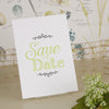 'Love Laughter' Ivory Wedding Save The Date Postcard