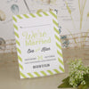 'Love Laughter' Ivory Wedding Save The Date Postcard-Reverse Side