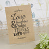 'Love Laughter' Kraft Wedding Thank You Postcards