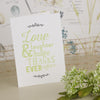 'Love Laughter' Ivory Wedding Thank You Cards