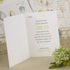 'Love Laughter' Ivory Wedding Thank You Cards Inside Page